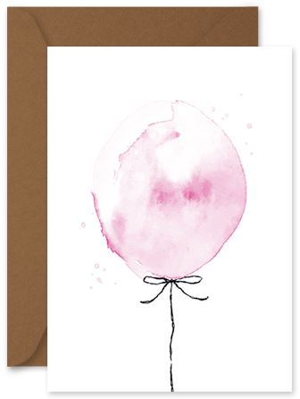 Pink Balloon - Little Hoothoot Card - Mandi at Home