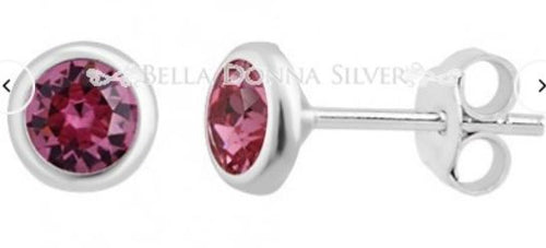 Pink Crystal Swarovski Studs - Mandi at Home