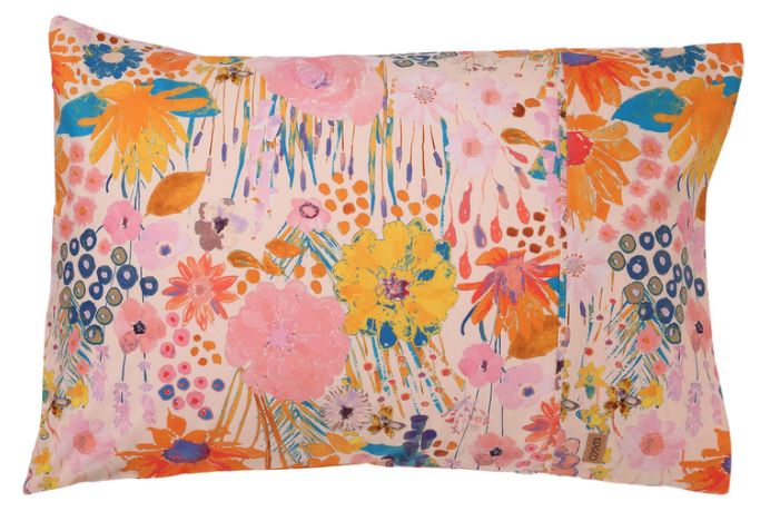 Pinky Field of Dreams Pillowcases - 1P Single - Kip & Co - Delivery mid-late February - Mandi at Home
