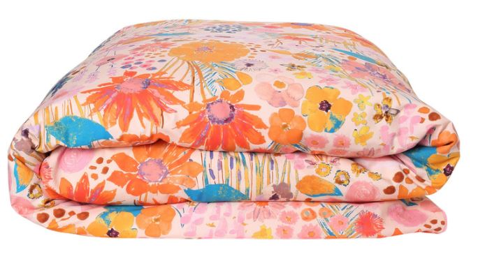 Pinky Field of Dreams Quilt Cover -  Single - Kip & Co - Delivery mid-late February - Mandi at Home