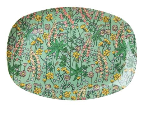 RICE - Melamine Plate with Lupin Print. - Mandi at Home