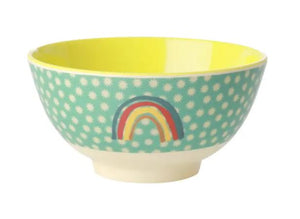 RICE - Melamine Small Bowl with Rainbow Print - Mandi at Home