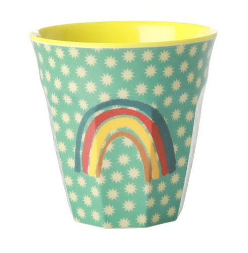 RICE - Medium Melamine Cup in Rainbow Print - Mandi at Home