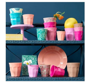 RICE - Medium Melamine Cup in Box of 6 Assorted LBC Colours - Mandi at Home