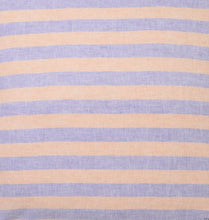 Load image into Gallery viewer, Sicilian Seaside Stripe Linen Fitted Sheet - Queen - Mandi at Home