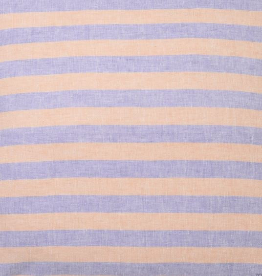Sicilian Seaside Stripe Linen Fitted Sheet - Queen - Mandi at Home