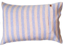 Load image into Gallery viewer, Sicilian Seaside Stripe Linen Pillowcases - 2P Std Set - Mandi at Home