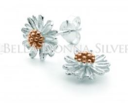 Chamomile Silver and Rose Gold Studs - Mandi at Home