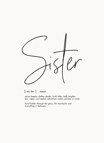Word Print - Sister - Mandi at Home