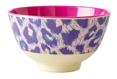 RICE - Melamine Medium Bowl with Leopard Print - Mandi at Home