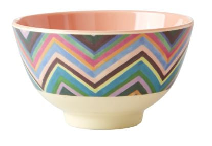RICE - Melamine Small Bowl with Zig Zag print - Mandi at Home