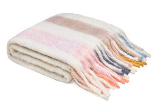Sorbet Stripe Bumble Blanket - Castle and Things - Mandi at Home