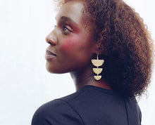 Load image into Gallery viewer, Finders and Makers - Spirited Incanto Earring - Gold Plated - Mandi at Home
