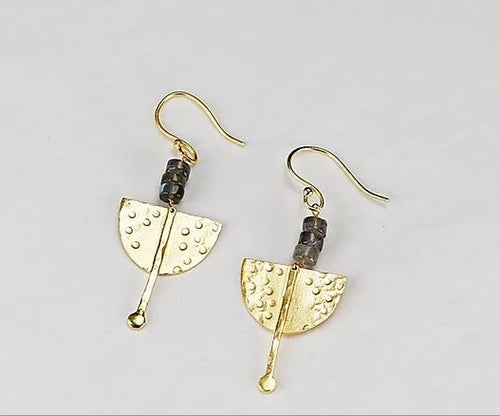 Finders and Makers - Spirited Strength Earring - Gold Plated - Mandi at Home
