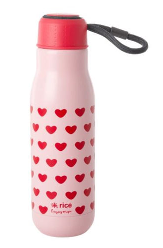 RICE - Stainless Steel Drinking Bottle - Sweet Heart Print - Mandi at Home