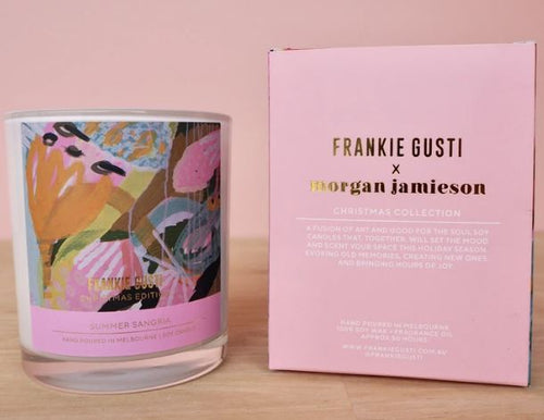 Frankie Gusti Candles - Artists Series - Christmas Morgan Jamieson Summer Sangria - Mandi at Home