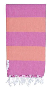 Knotty Superbright Turkish Towel - Candy2 Rasberry/Sherbie - Mandi at Home