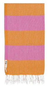 Knotty Superbright Turkish Towel - Carnival Bubblegum/Melon - Mandi at Home