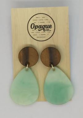 Ocean and Blackwood Pebble Drop Earrings - Mandi at Home