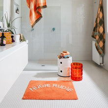 Load image into Gallery viewer, Tula Nudie Bath Mat - Tangerine - Mandi at Home