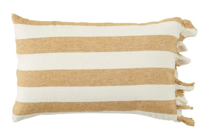 Society of Wanderers - Turmeric Stripe Standard Pillowcase Set - Mandi at Home
