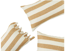 Load image into Gallery viewer, Society of Wanderers - Turmeric Stripe Standard Pillowcase Set - Mandi at Home