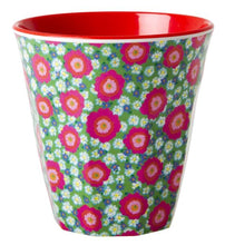 Load image into Gallery viewer, RICE - Medium Melamine Cup in Two Tone Peony Print Red - Mandi at Home