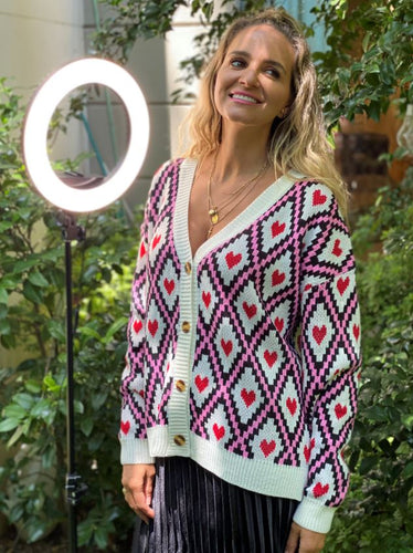 Frankie's Diamond Heart Cardigan - White - Frankie's Melbourne - Mandi at Home