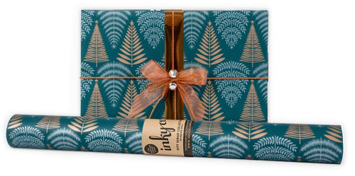 Winter Woodland Green Wrapping Paper - Mandi at Home