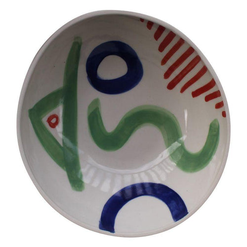 White Symbol Bowl - Mandi at Home