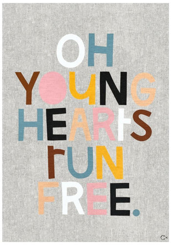 Young Hearts Art Teatowel by Castle and Things