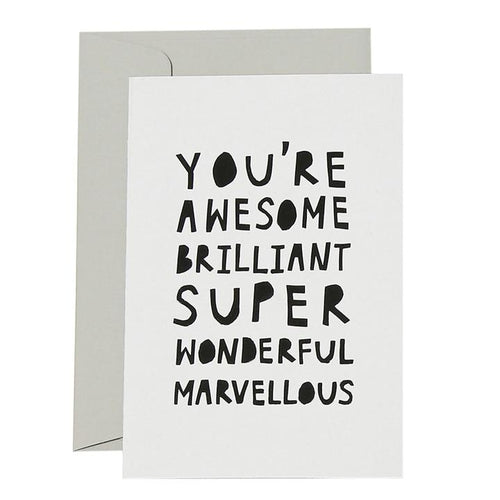 Awesome Brilliant Card - Black on White - Mandi at Home