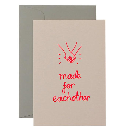 Made for Each Other Card - Neon Coral on Blush - Mandi at Home