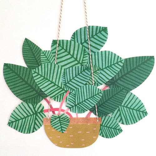 Hanging Plant - Paper Bits and Bobs - Mandi at Home