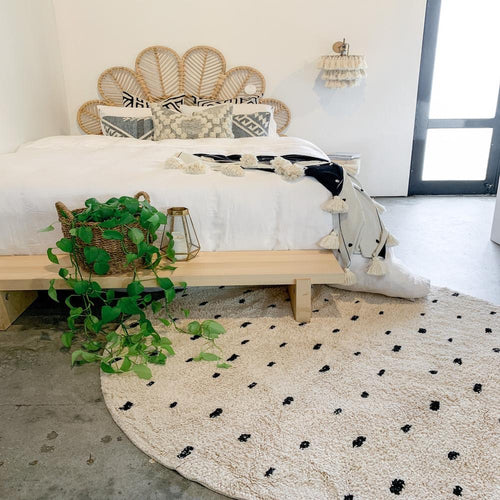 Cotton Berber Rugs - Going Dotty - Round - Mandi at Home