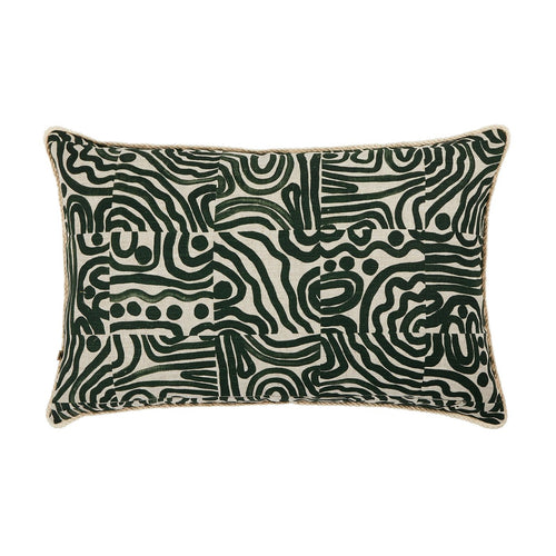 Swell Forest Green Cushion by Bonnie & Neil - 60 x 40cm - Mandi at Home
