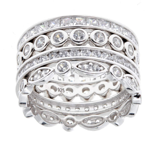 Madonna Stack Ring - CZ and Sterling Silver - Mandi at Home