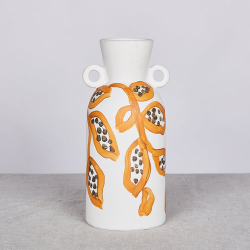 Spotted Begonia Mustard Tall Vase - Bonnie & Neil - Pick up only - Mandi at Home