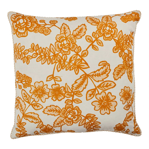 Flora Saffron Cushion - by Bonnie & Neil 60cm - Mandi at Home