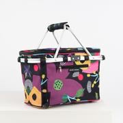 FLOWER POWER REALLY COOL PICNIC BASKET - Mandi at Home