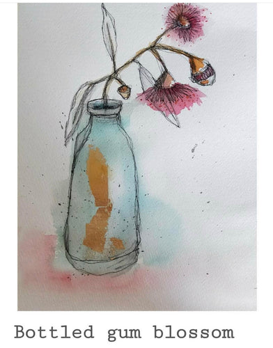 Bottled Gum Blossoms - Original- Gillian Roulston - Mandi at Home