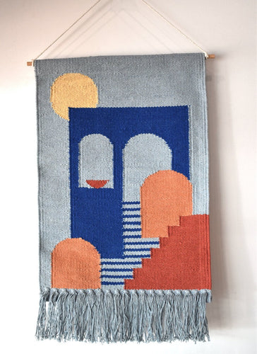 Woven Wall Wall Hanging - Blue - Mandi at Home