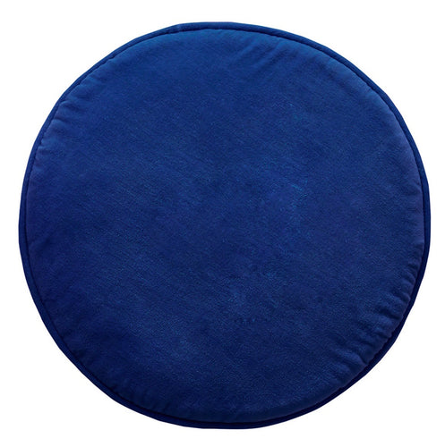 Navy Penny Round Cushion with Insert
