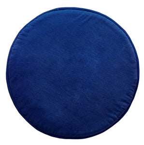 Navy Penny Round Cushion with Insert - Mandi at Home
