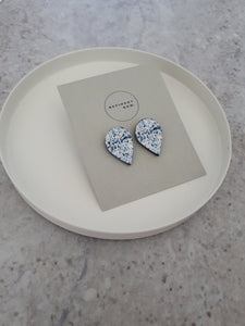 Pear Cut Diamond illustration Stud Earrings - Mandi at Home
