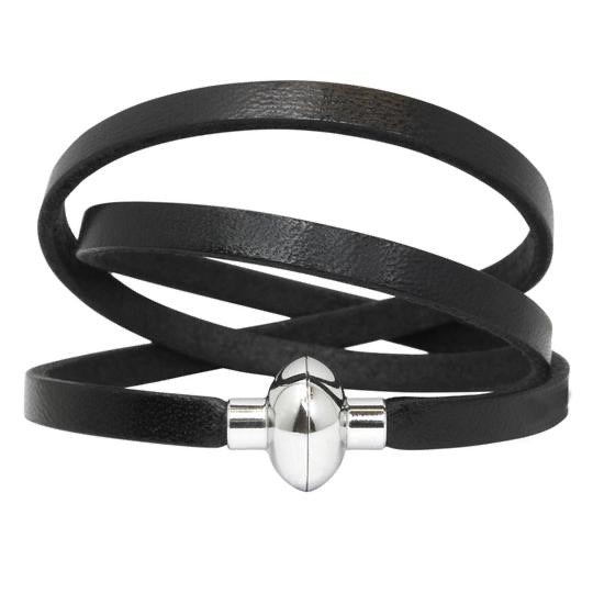 Leather Rainbow Wrap Bracelet   - BLACK - Mandi at Home