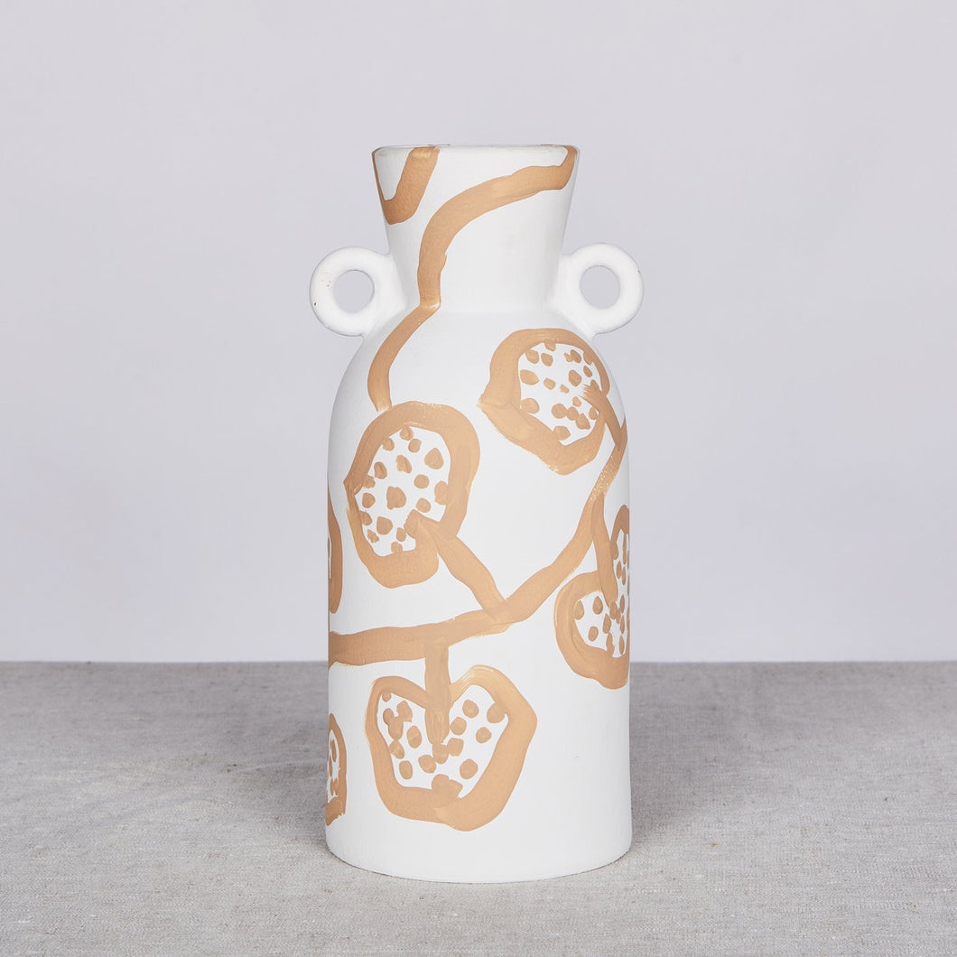 Bonnie & Neil Spotted Begonia Wheat Tall Vase - Mandi at Home