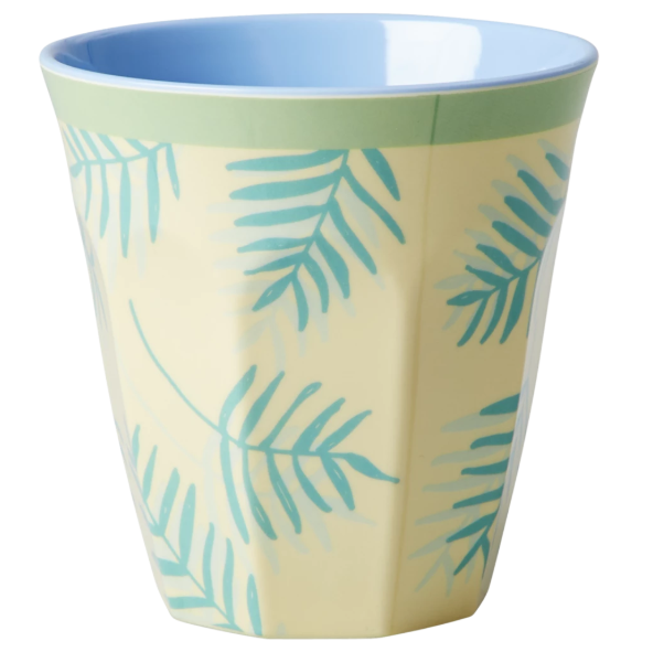 RICE - Medium Melamine Cup in Palm Leaf Print. - Mandi at Home