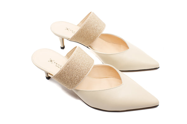 Pumps 7716 nappa beige 5 cm rivestito nappa