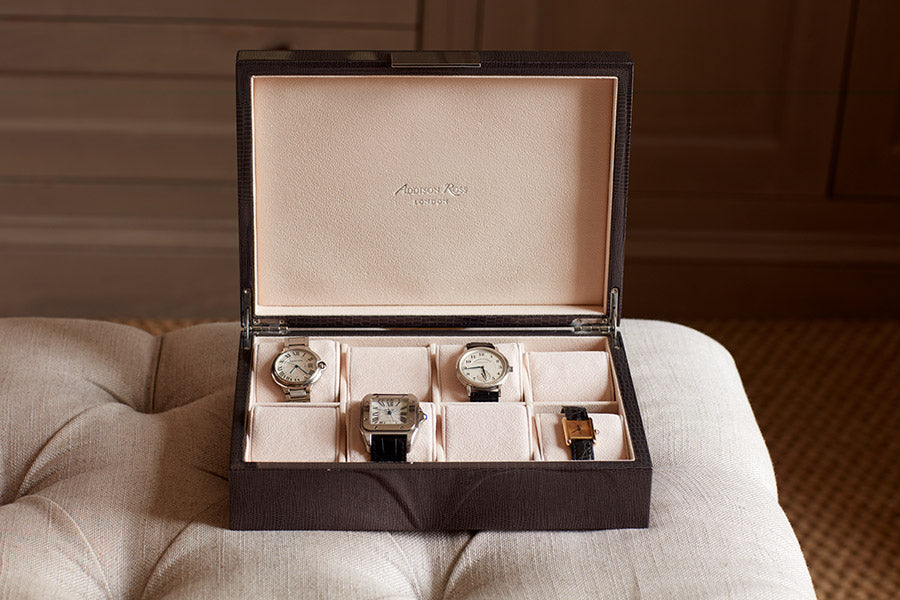 Large Watch Boxes with Silver